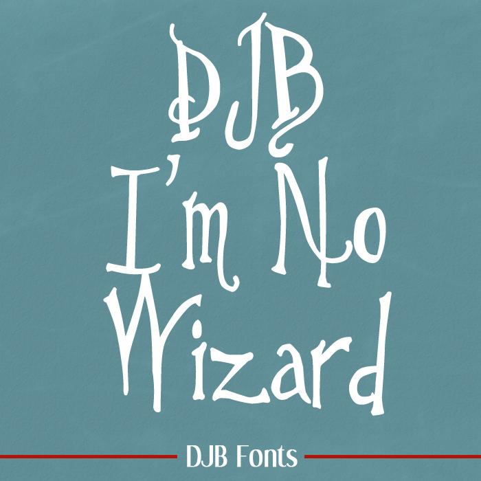 DJB I'm No Wizard Font