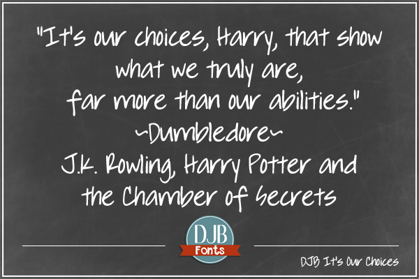 DJB It's Our Choices font from darcybaldwinfonts.com . A new free for personal use font with commercial licensing available.