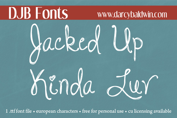 I might not want a jacked up kinda luv, but I sure want this font!