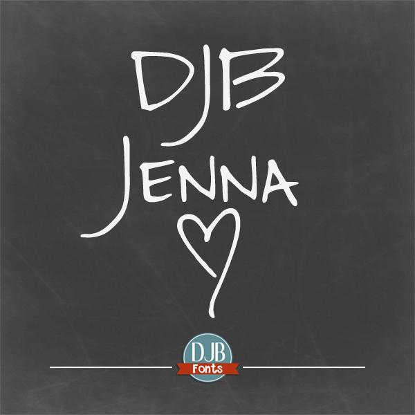 DJB Jenna Font – Invitations