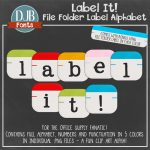 Label It Alpha Clip Art pack great for product covers, scrapbooking and more!