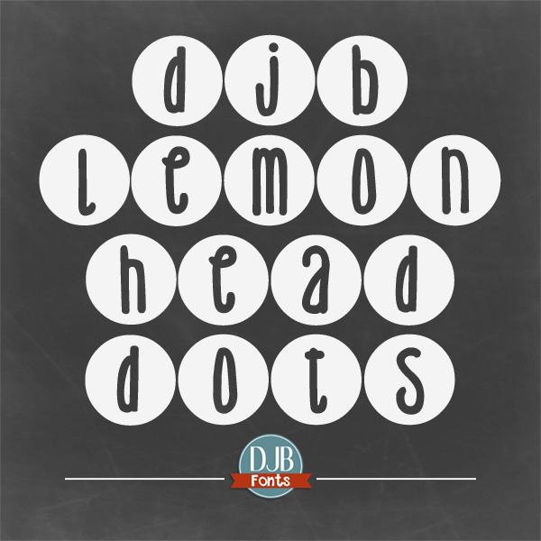 DJB Lemon Head Dots Font