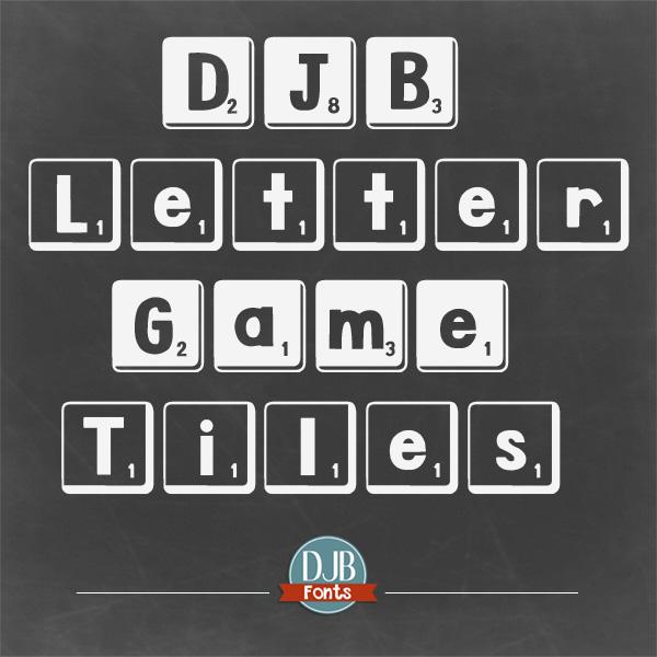 DJB Letter Game Tiles Font
