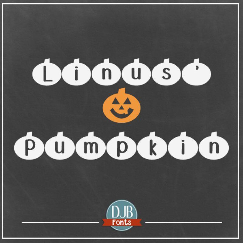DJB Linus' Pumpkin Font