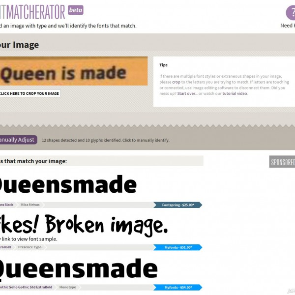 The newest Font Identifier on the market - Font Squirrel's Matcherator - see it in use at DarcyBaldwin.com along with a whole list of possible helpers for you!