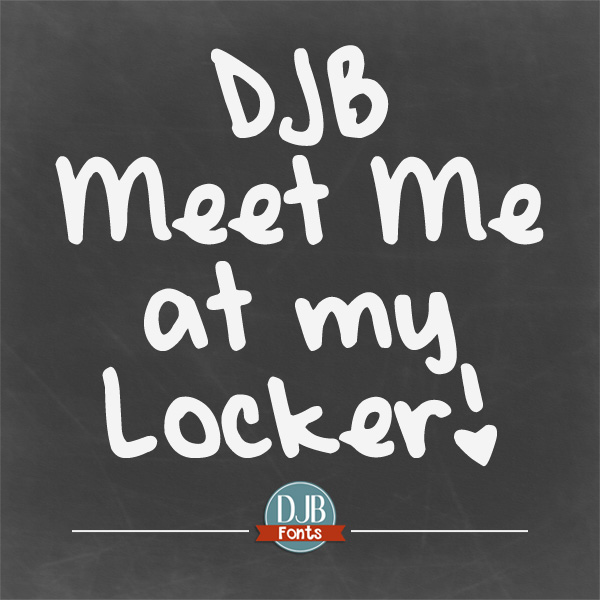 DJB Meet Me at My Locker Font - Personal Use This font is PERFECT for tween and teen girl writing. The i's are dotted with hearts for the cutest notes to pass along to friends (or do girls even do that anymore .. don't they just text? :D ) Available at darcybaldwin.com