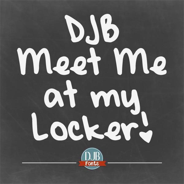 DJB Meet Me at My Locker Font