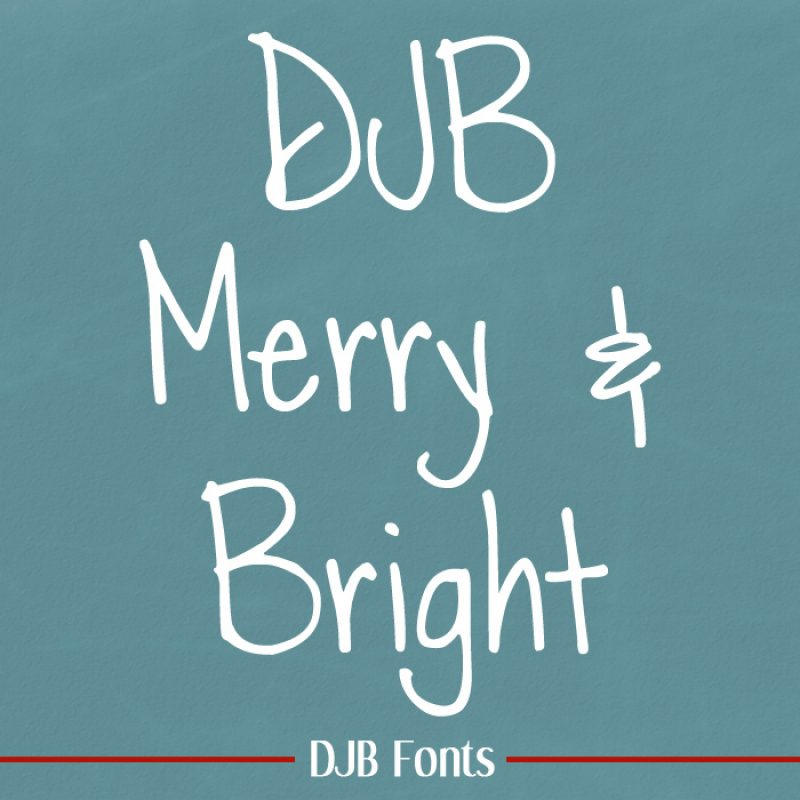 DJB Merry Font + more