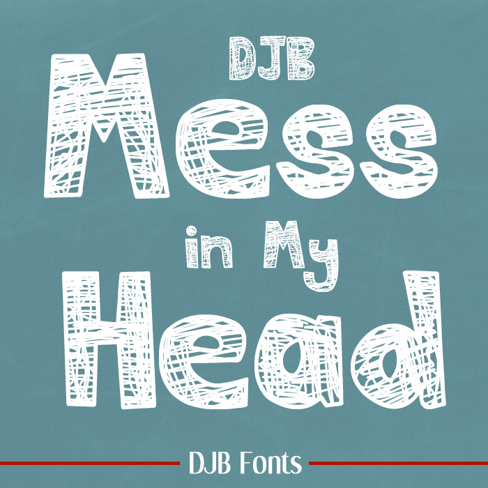 Mess in My Head - scratchy bold font from Darcy Baldwin {fontography} and Lauren Grier Designs. Free for personal use, CU license available.