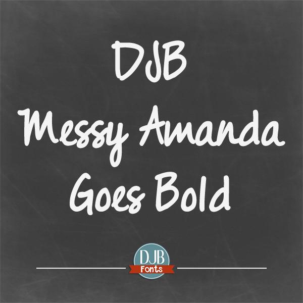 DJB Messy Amanda Font