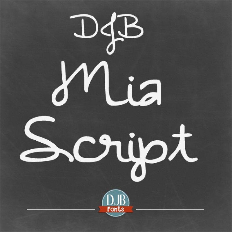 DJB Mia Script Font