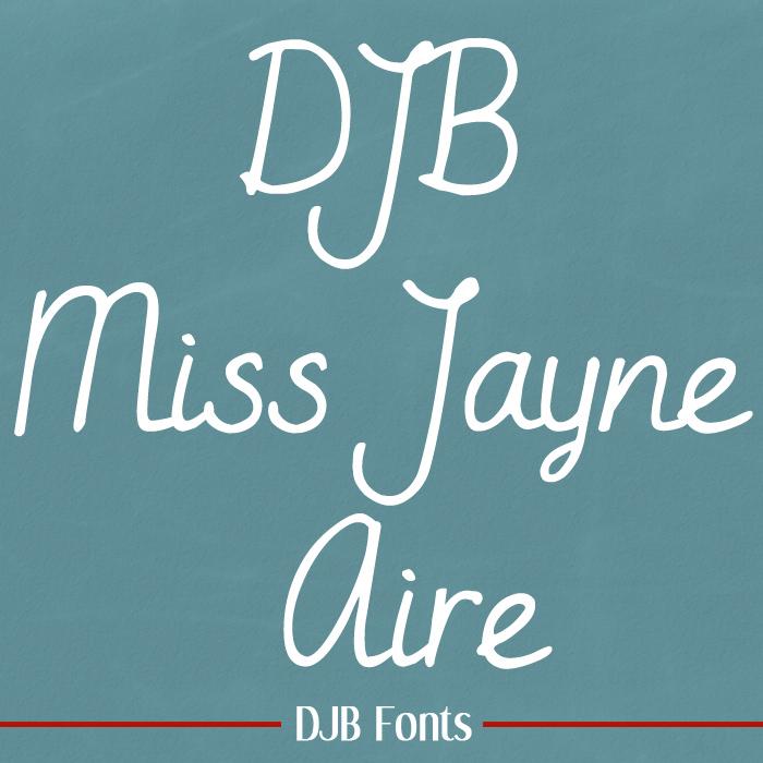 DJB Miss Jayne Aire Font