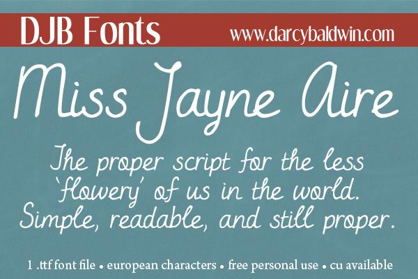 A proper font fit for a Jane Austin novel - new from DJB Fonts