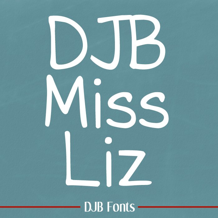 DJB Miss Liz – a Teacher Font