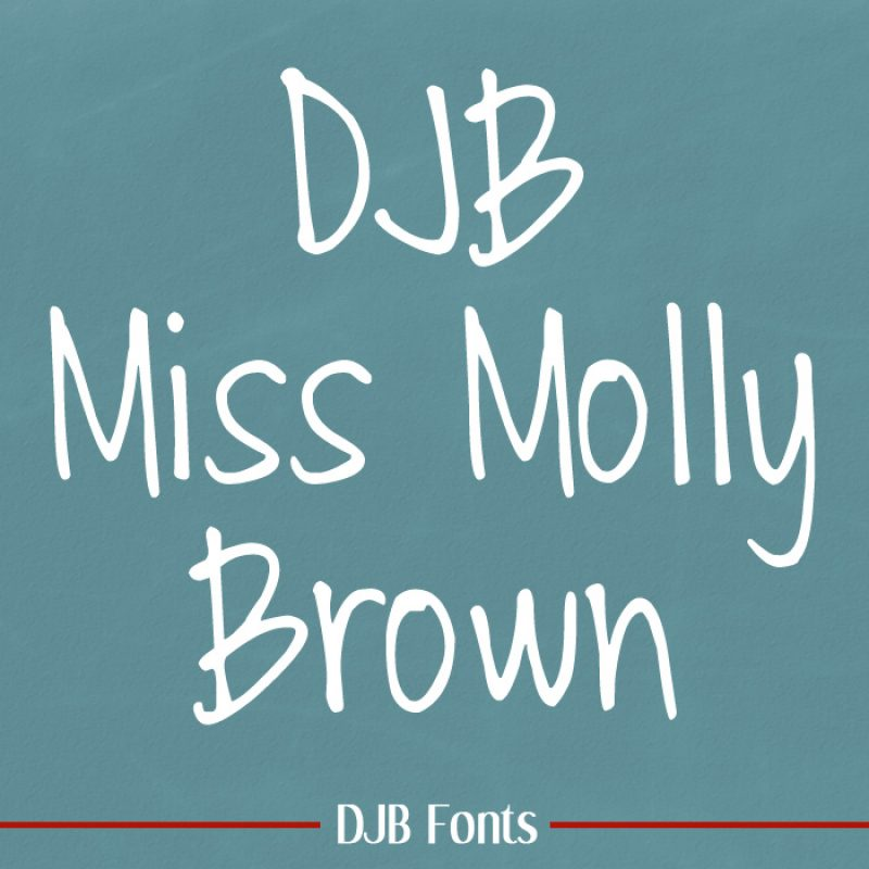 DJB Miss Molly Brown Font