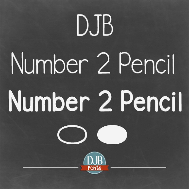 DJB Number 2 Pencil Fonts