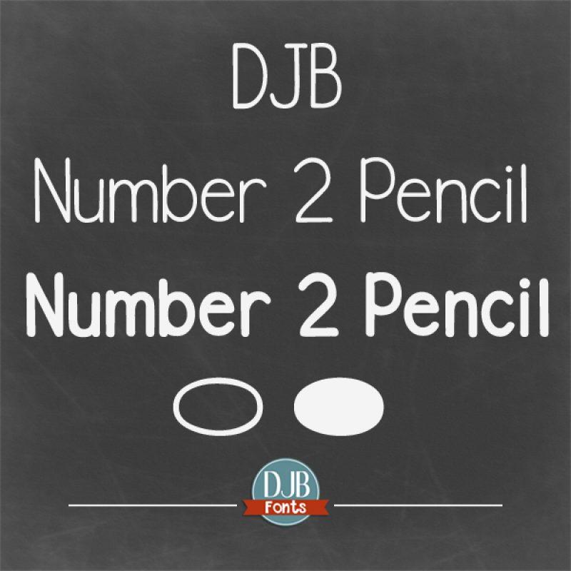 DJB Number 2 Pencil Fonts