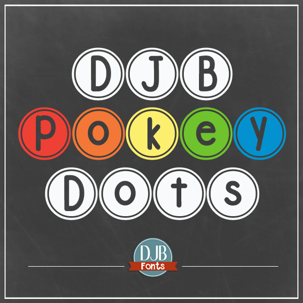 DJB Pokey Dots Font - a cute bubble font with a a ring on it! Available for free personal use and commercial licensing is available @ darcybaldwin.com