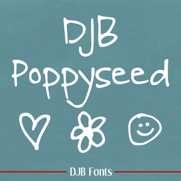 DJB Poppyseed Font