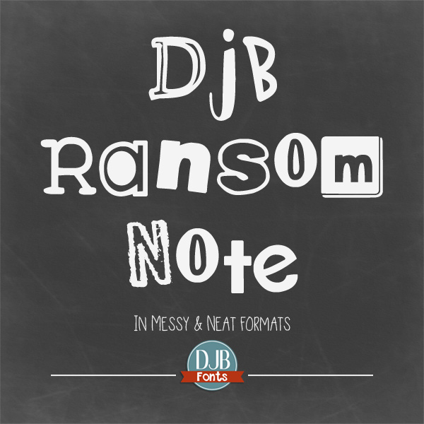 From Sherlock Holmes birthday invitations to detective-inspired teaching materials, DJB Ransom Note & Ransom note Messy will be the perfect fonts for your needs. They're free for personal use wtih commercial use licensing available @ darcybaldwin.com
