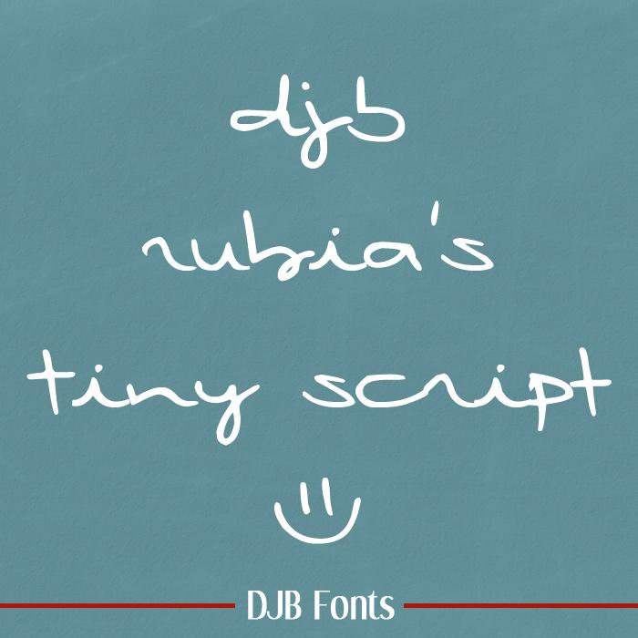 DJB Rubia's Tiny Fonts