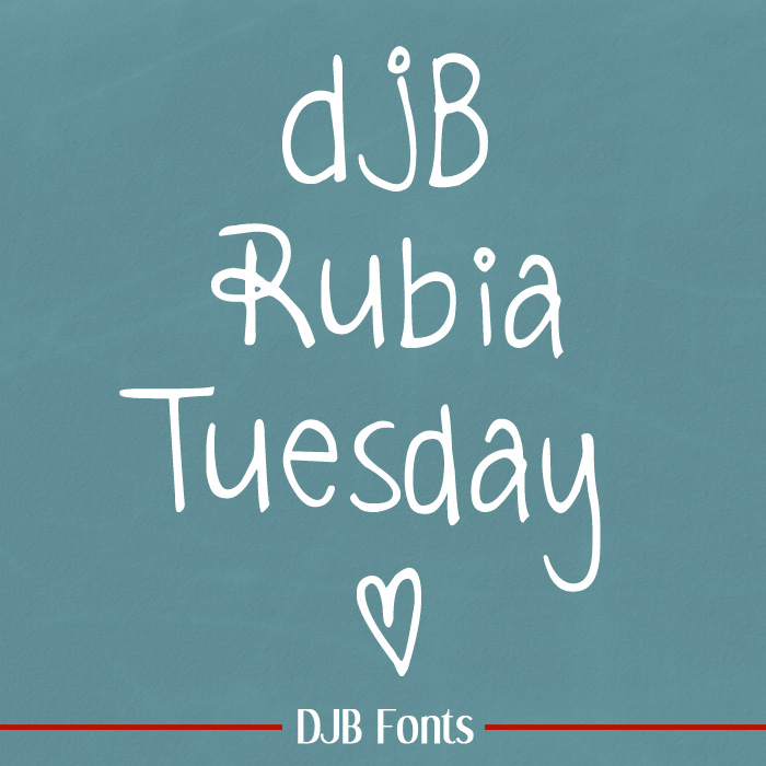 DJB Rubia Tuesday Font
