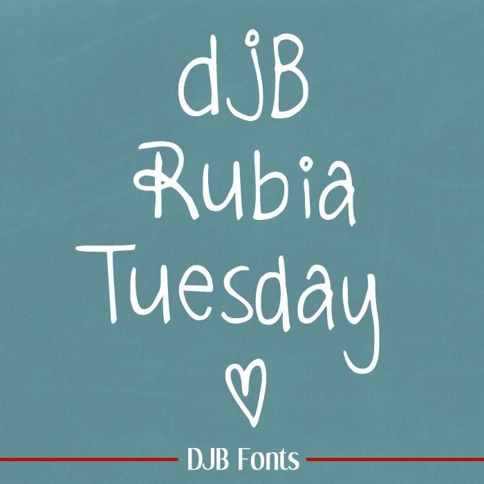 DJB Rubia Tuesday Font