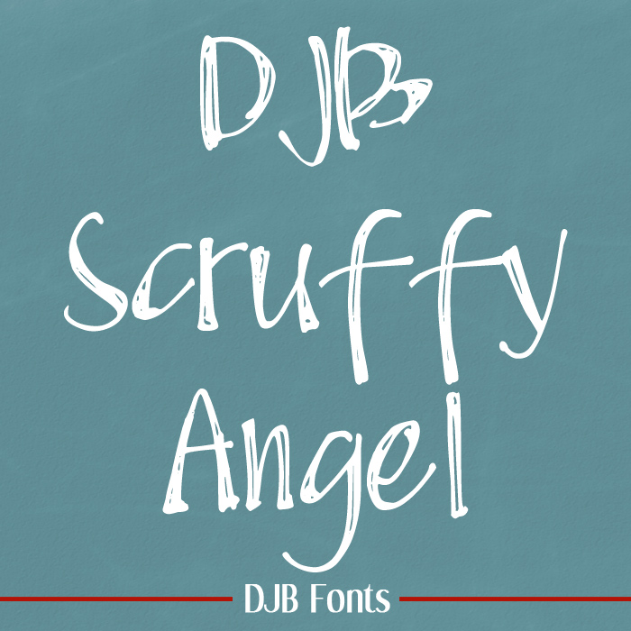 DJB Scruffy Angel - when you want a pretty font that's just a little scruffed up. Contains European language characters and is great for chalkboard text. Free for personal use, commercial licensing available @ DarcyBaldwin.com