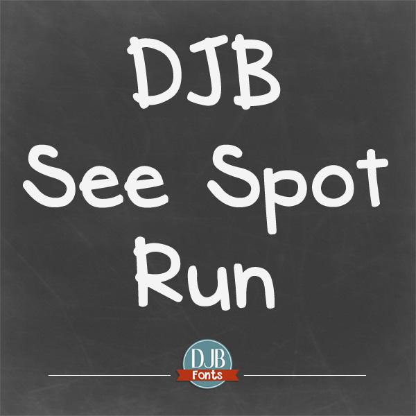 DJB See Spot Run Font