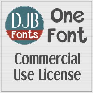DJB Fonts - Single Font Commercial Use License