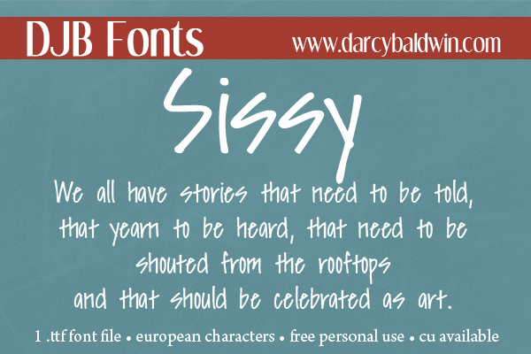 DJB Fonts | Free personal use font that is perfect for storytelling!   (CU Licensing available)