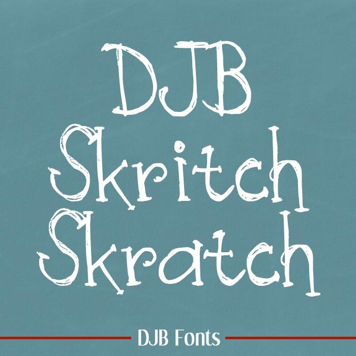 DJB Skritch Skratch Font