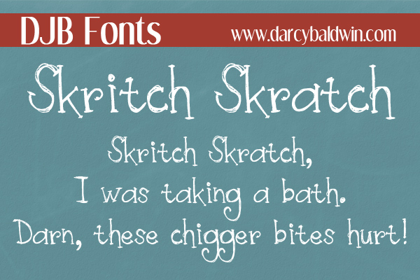 Skirtch Skratch Font with European Characters. Get skratchy today!