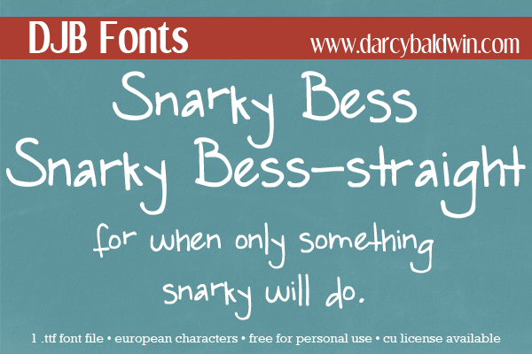 If you needed a sarcasm font - I found one for you! Get it free at DJB Fonts!
