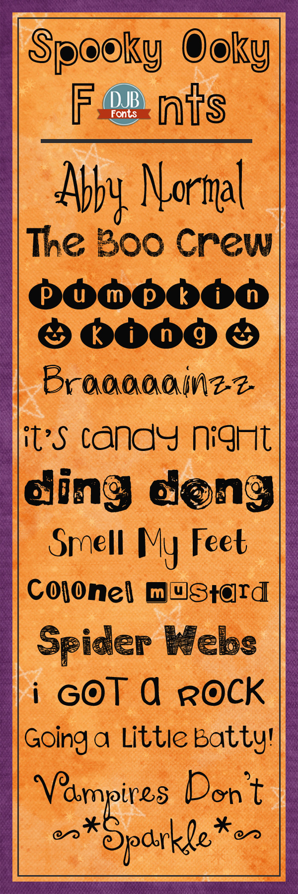 Spooky Ooky Fonts -- Don't let these fonts scare you! They're actually free for personal use from DarcyBaldwin.com!