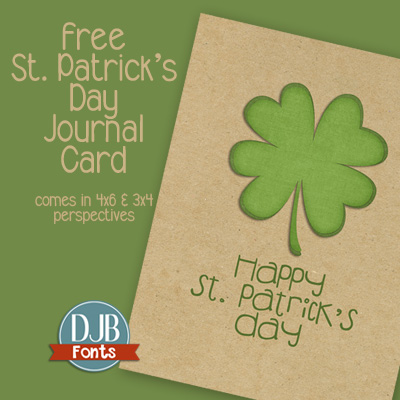 Free St. Patrick's Journal Cards