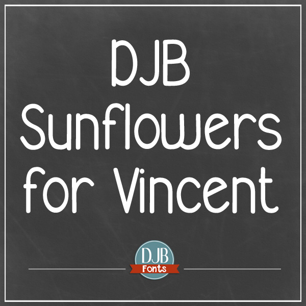 DJB Sunflowers for Vincent Font