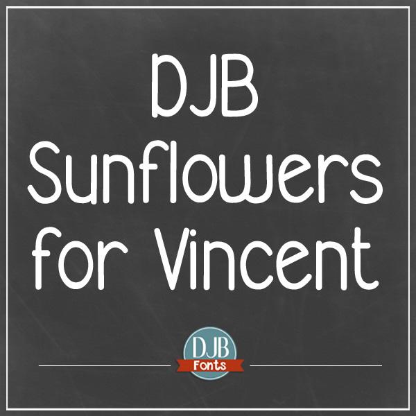 DJB Sunflowers for Vincent Font