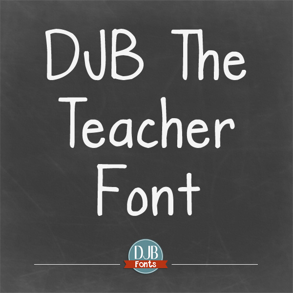 DJB The Teacher Font