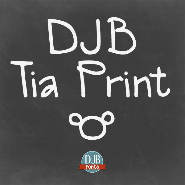 DJB Tia Print Font