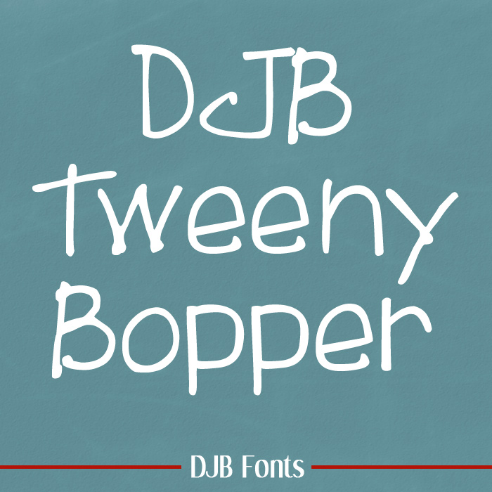 A child-like yet funky font perfect for children's marketing, curriculum and more! Available @ DJB Fonts