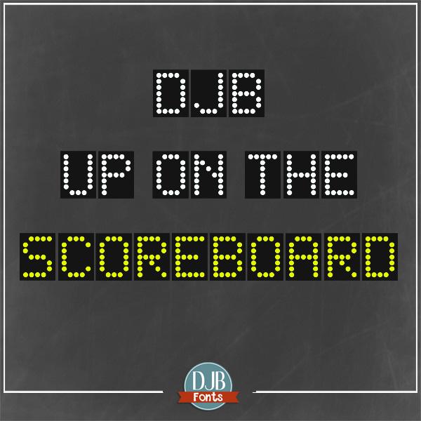 DJB Scoreboard Font