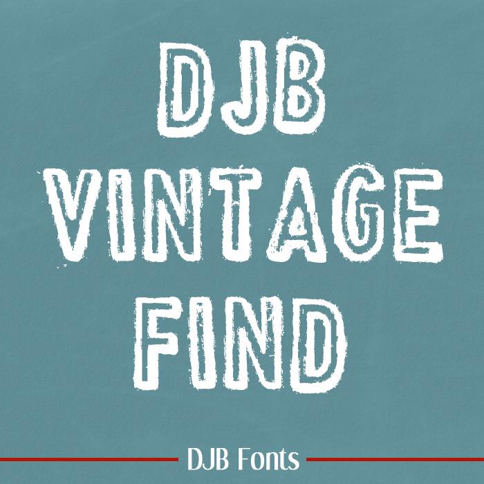 Vintage Find Stamped Font