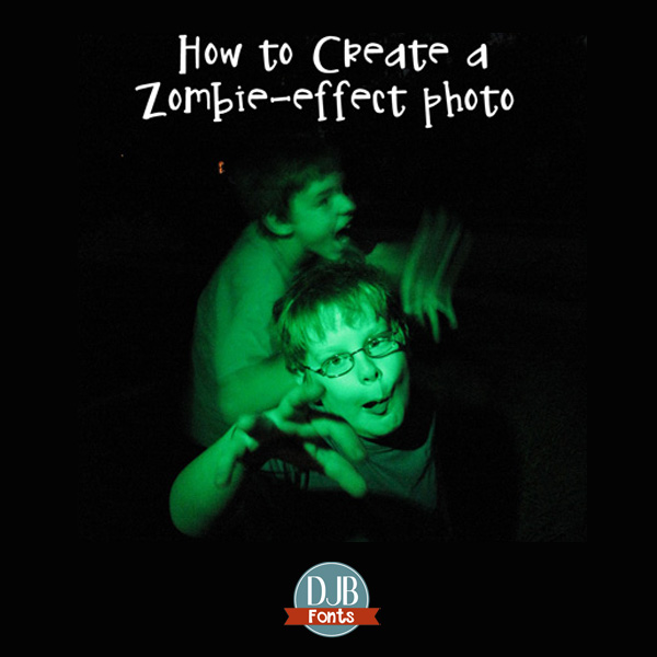 Photography Tutorial: How to create a zombie-effect photo at DarcyBaldwin.com