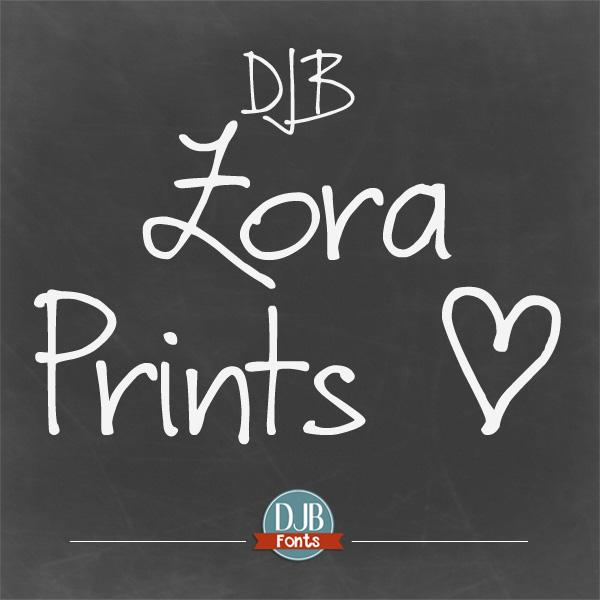 DJB Zora Prints Font
