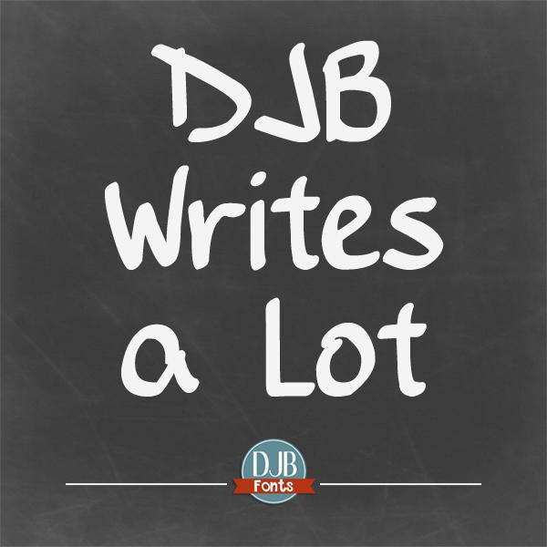 DJB Writes a Lot Font