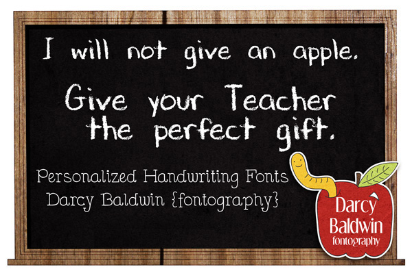Need a unique and interesting gift for a teacher for Christmas or for a teacher appreciation gift? How about his/her own handwriting font!